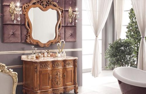 烟台实木卫浴柜